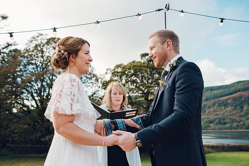 Claire & John – Scottish Highland Tee Pee Wedding – Ardkinglas Estate – Cairndow